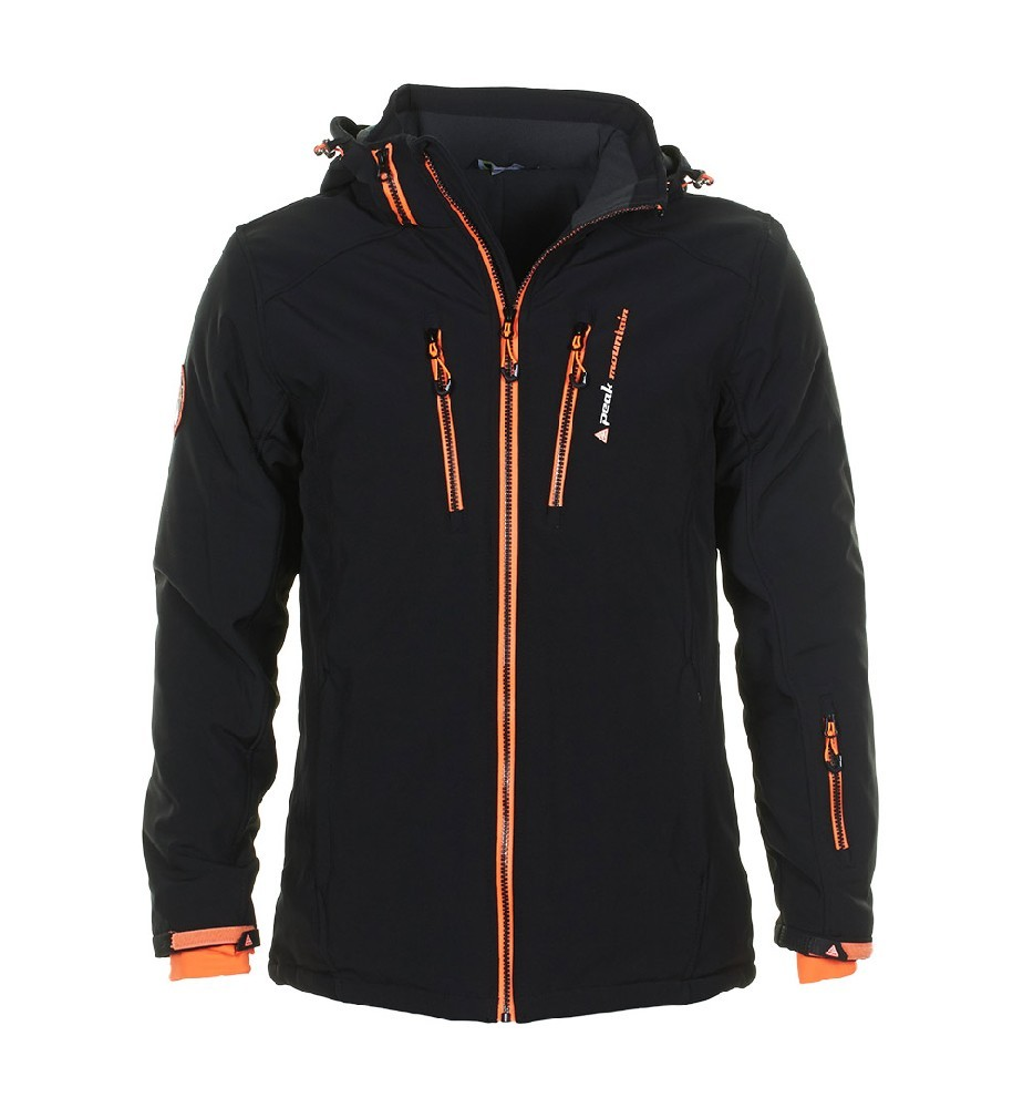 peak mountain blouson de ski homme canada noir orange ebay. Black Bedroom Furniture Sets. Home Design Ideas
