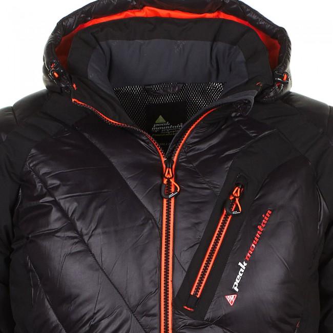 doudoune de ski homme cybrid noir orange peak mountain. Black Bedroom Furniture Sets. Home Design Ideas