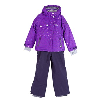 Ensemble de ski fille Peak Mountain FAVIM  violet et carbone