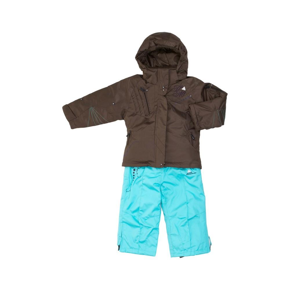 peak mountain ensemble de ski fille fazly turquoise marron. Black Bedroom Furniture Sets. Home Design Ideas