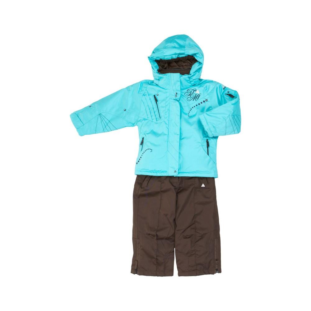 ensemble de ski fille fazy turquoise et marron peak mountain. Black Bedroom Furniture Sets. Home Design Ideas