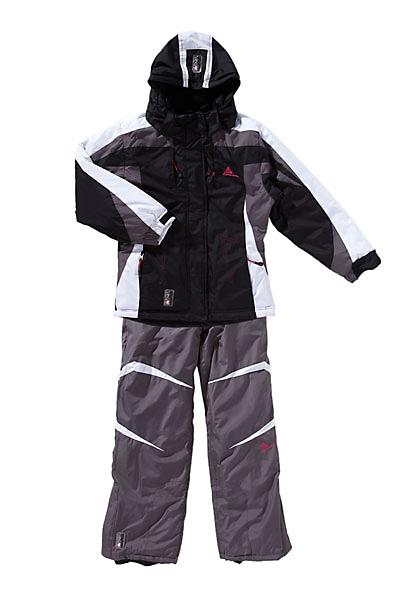 ensemble de ski fille gilia noir et gris peak mountain. Black Bedroom Furniture Sets. Home Design Ideas