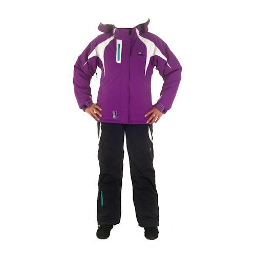 ensemble de ski fille ginga noir violet peak mountain. Black Bedroom Furniture Sets. Home Design Ideas