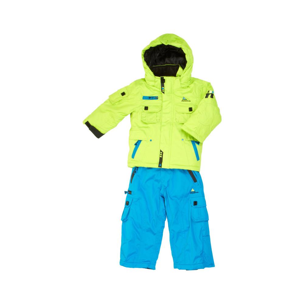 ensemble de ski gar on ecardido anis et bleu peak mountain. Black Bedroom Furniture Sets. Home Design Ideas