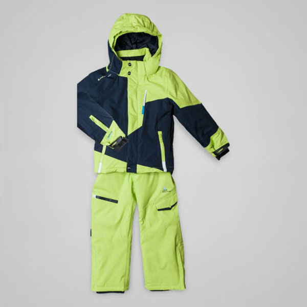 peak mountain ensemble de ski ecoro 3 8 ans vert marine. Black Bedroom Furniture Sets. Home Design Ideas