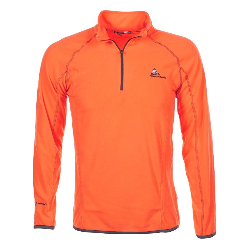 sweat polaire homme cafine orange peak mountain. Black Bedroom Furniture Sets. Home Design Ideas