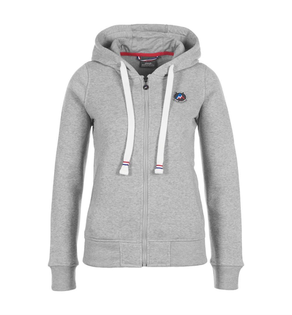 big sale release date lowest discount Sweat zippé à capuche femme APILOT gris chiné