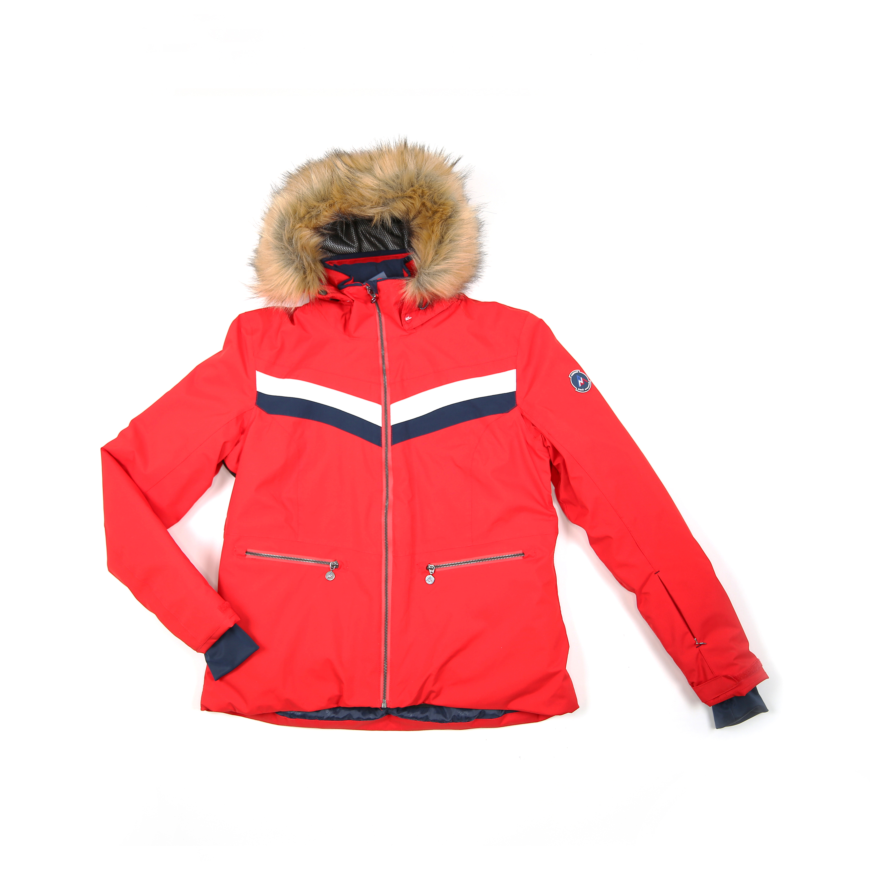 fb11534cfd1e Doudoune femme ATALANTE rouge- Peak Mountain