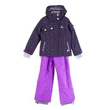 Ensemble de ski fille Peak Mountain FAVIM carbone et violet