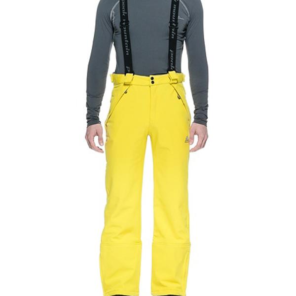 fc554442c6920 Pantalon de ski homme CASHELL en soft shell jaune - Peak Mountain